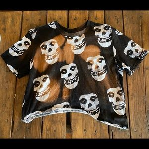 Custom Distressed Grunge Skeleton Crop